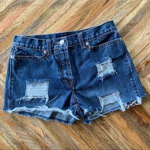 J. Crew | Extreme Distressed Denim Shorts